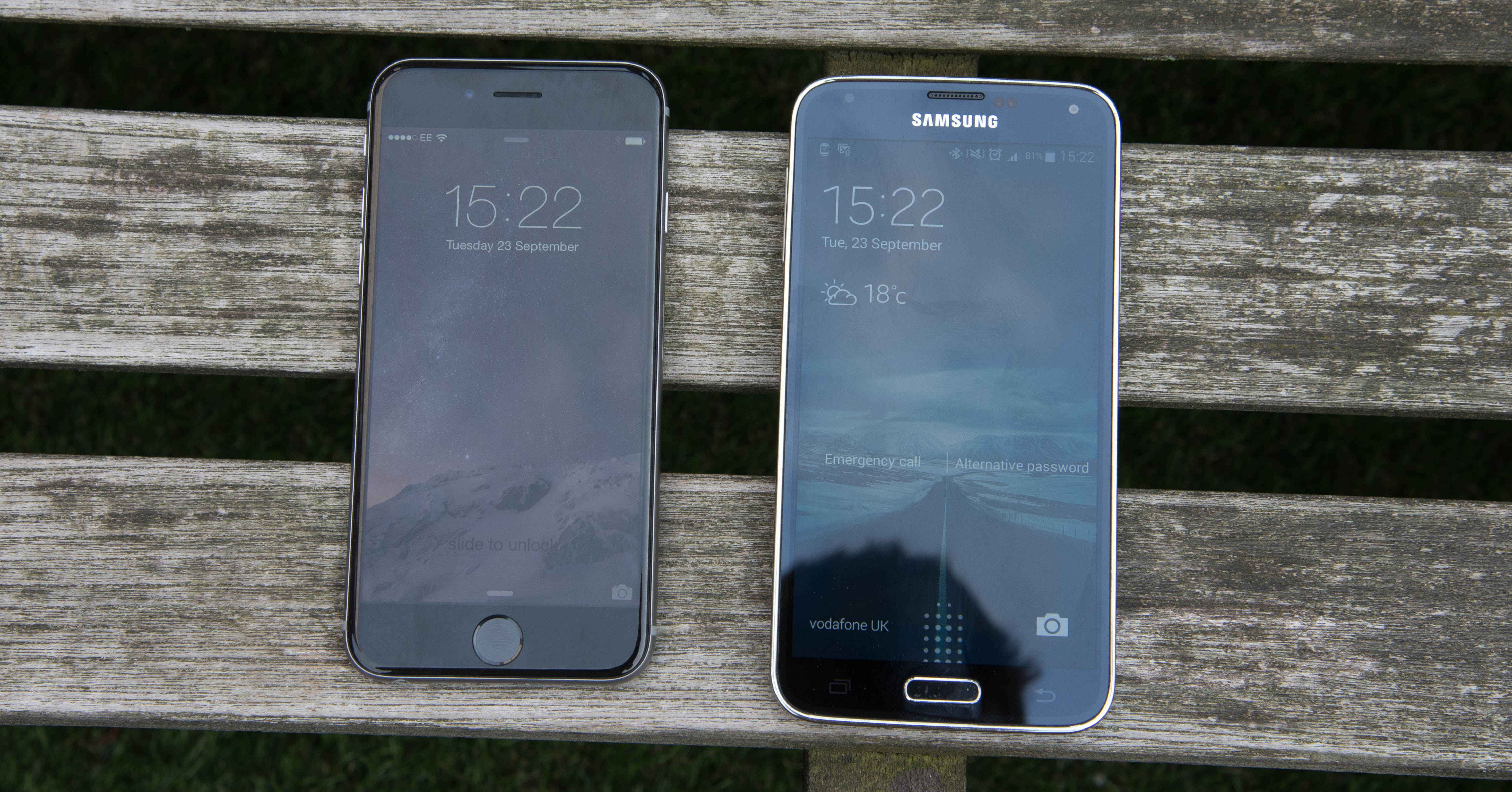 Galaxy s5 Dimensions vs Iphone 6 Iphone 6 vs Samsung Galaxy s5