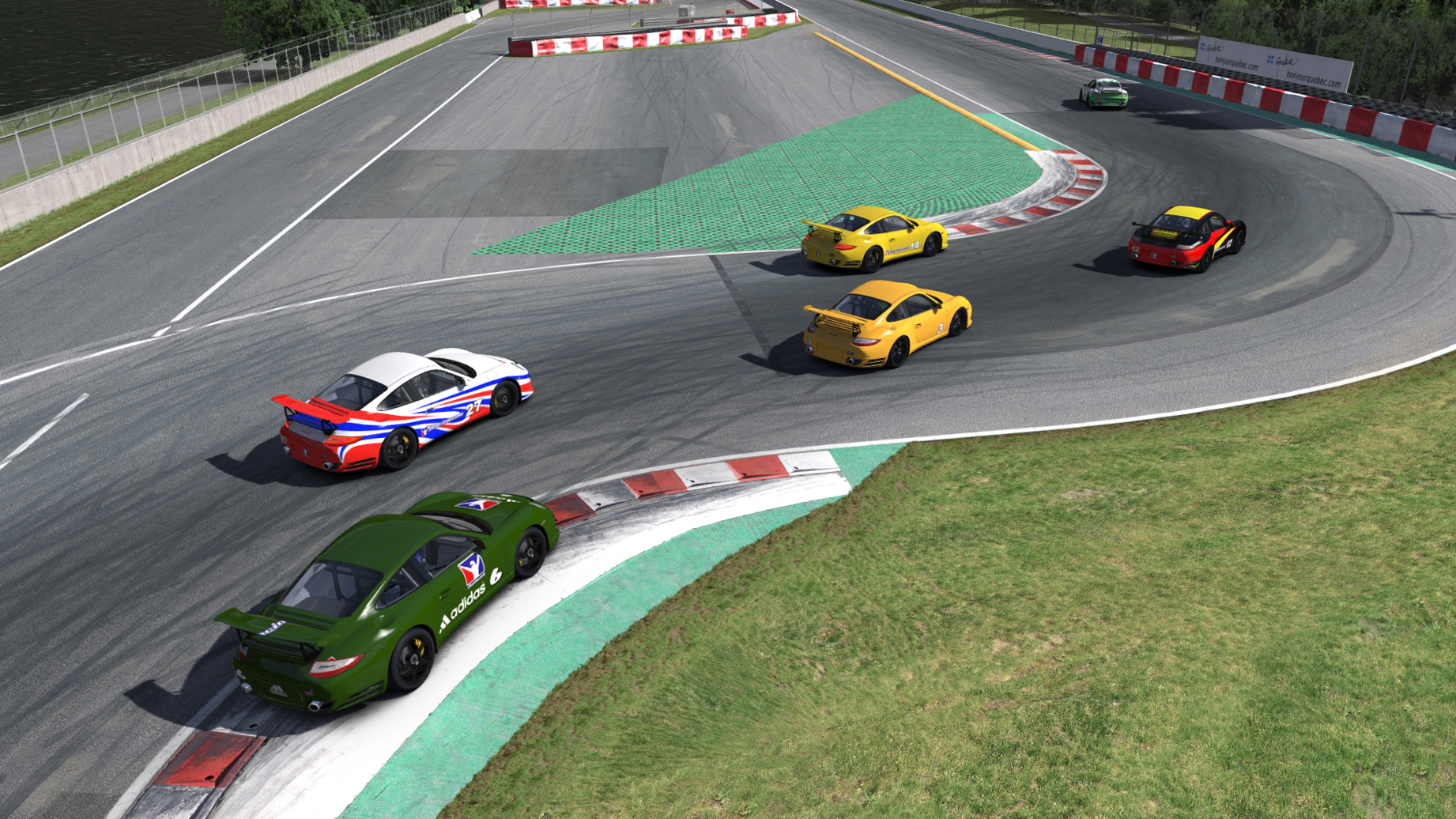 rufs racing hard in iracing