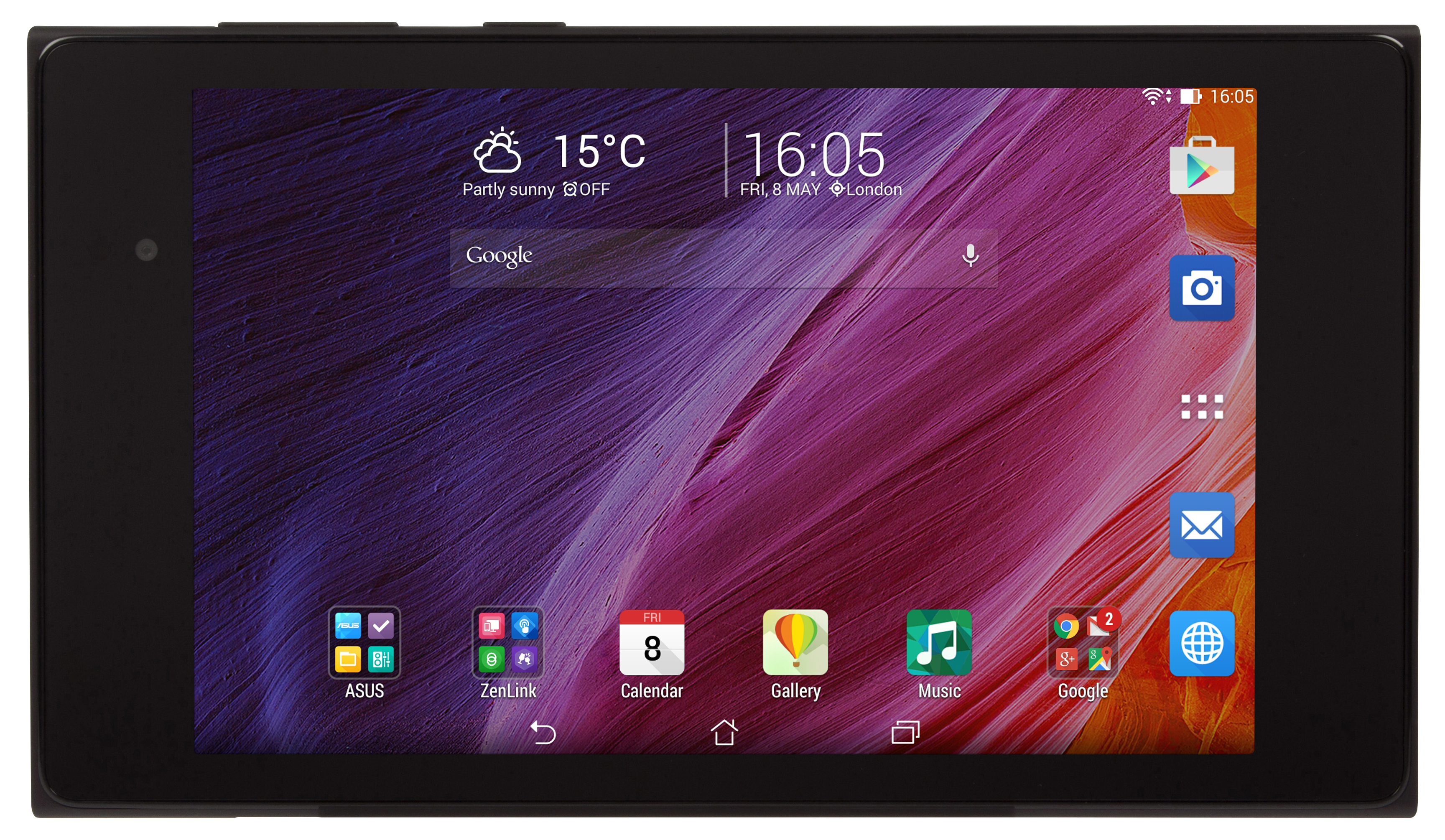 asus memopad 7 me572c face on