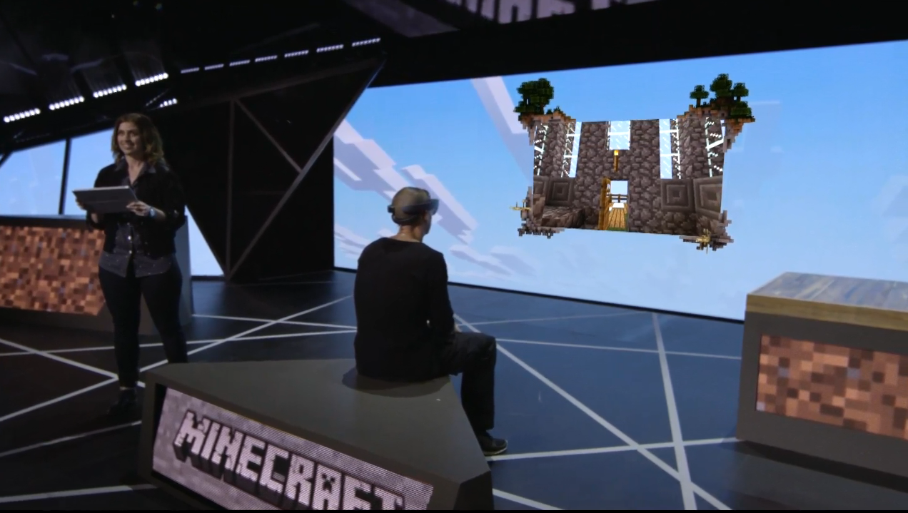 Minecraft on Hololens - the best bit from the Xbox E3 event ...