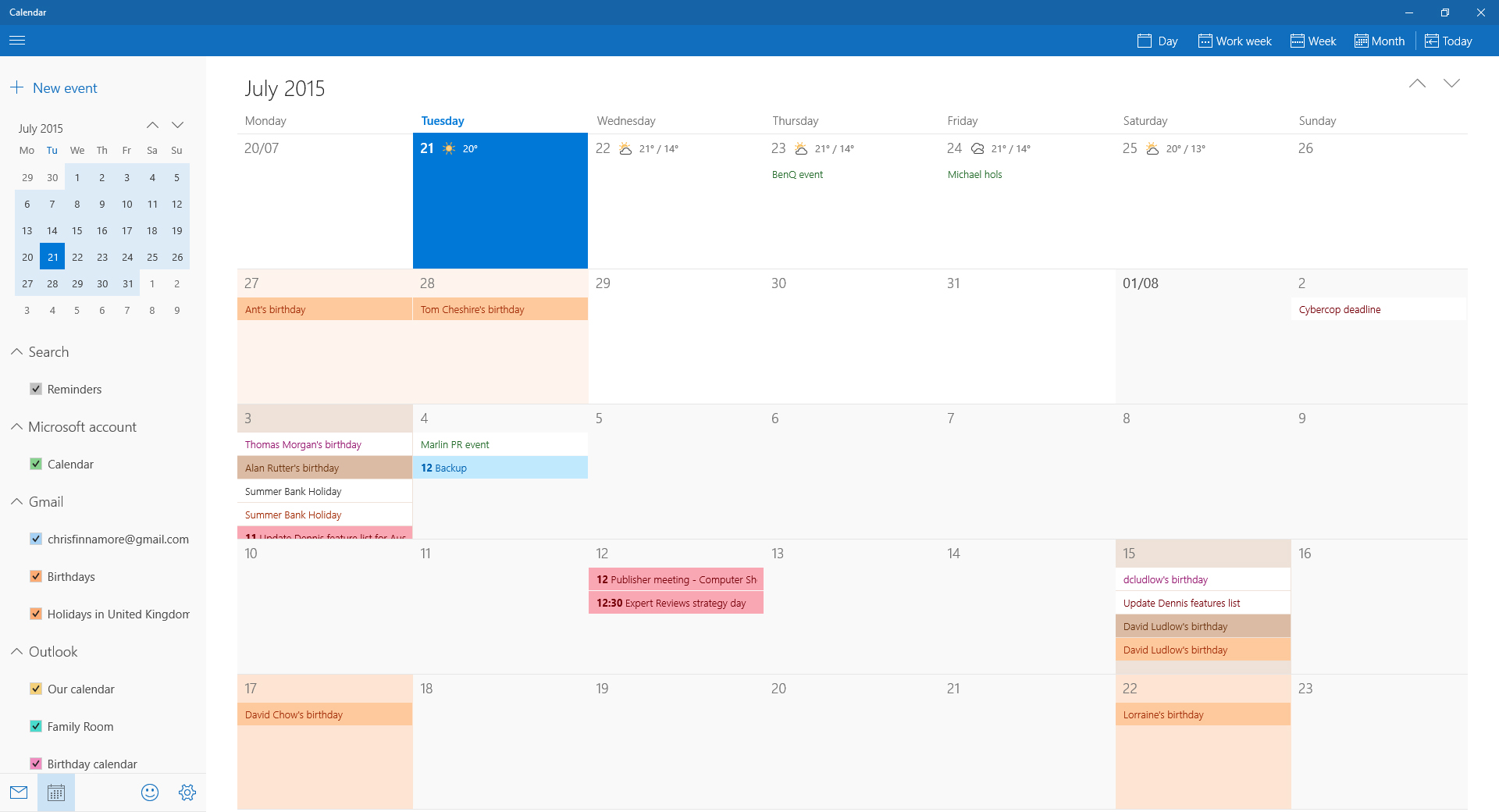 How To Set Up And Use The Calendar In Windows 10