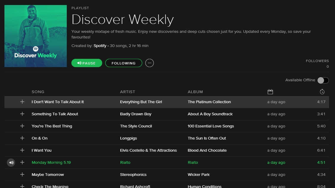 Spotify to deliver you a personalised playlist every ...