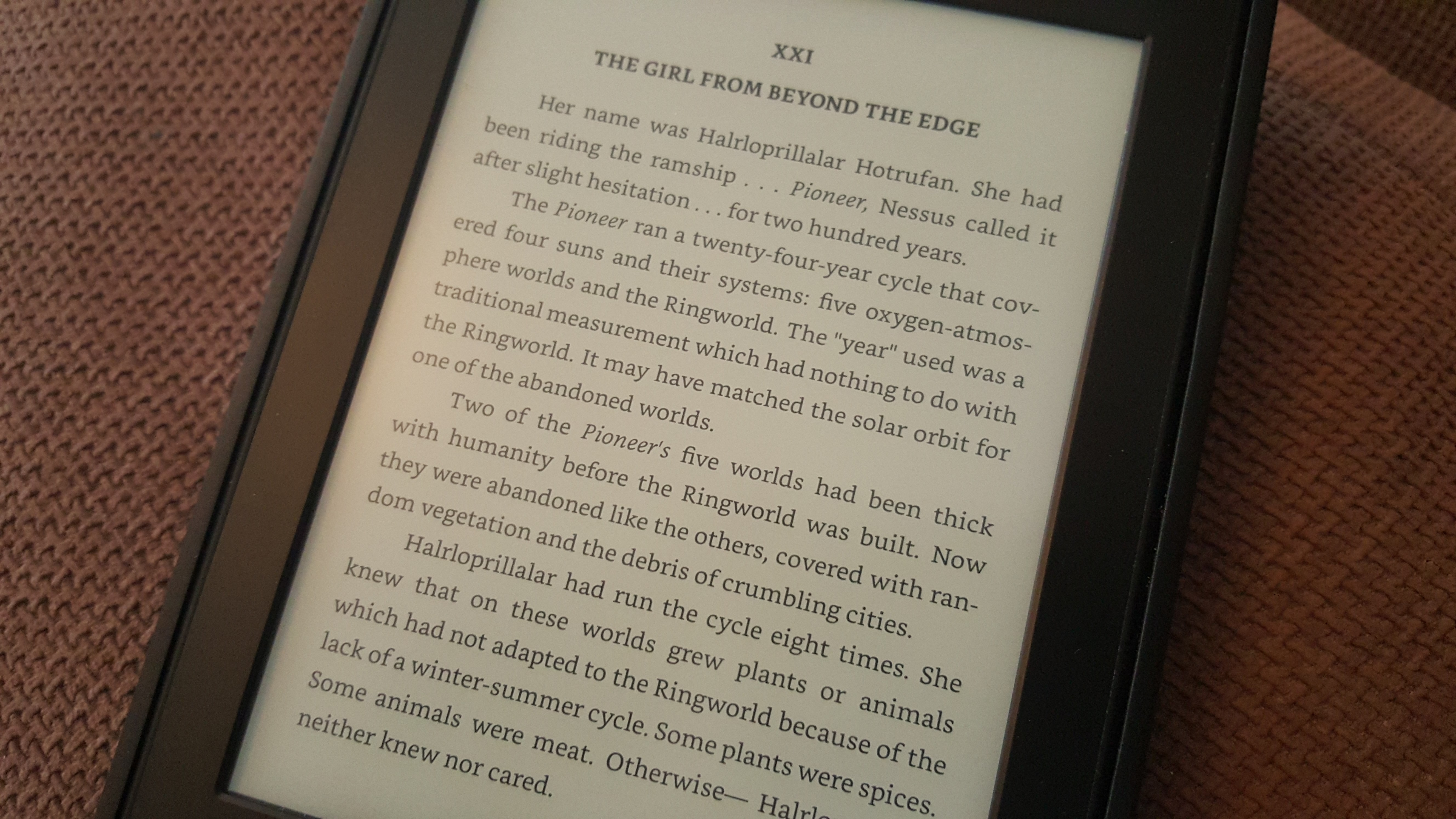 Kindle New Interface Text