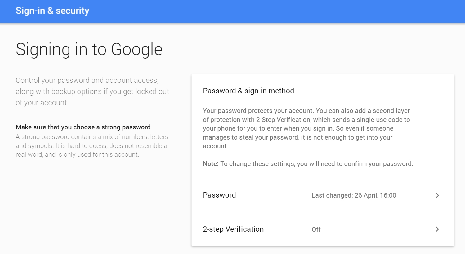 How to change gmail password and what to do if you 39 ve Google sites sign in