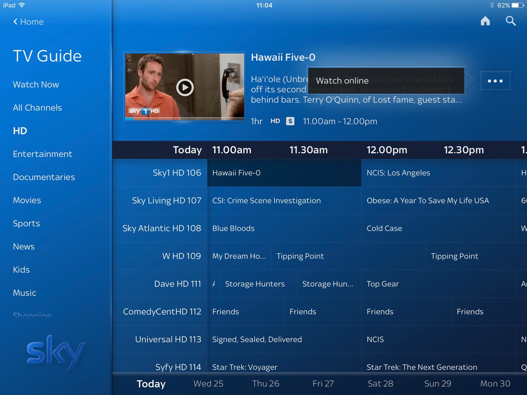 sky sports uk tv guide