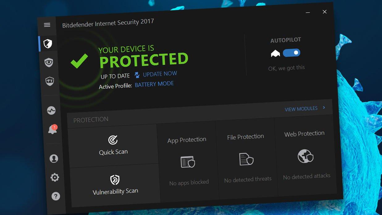 bitdefender internet security 2017 key