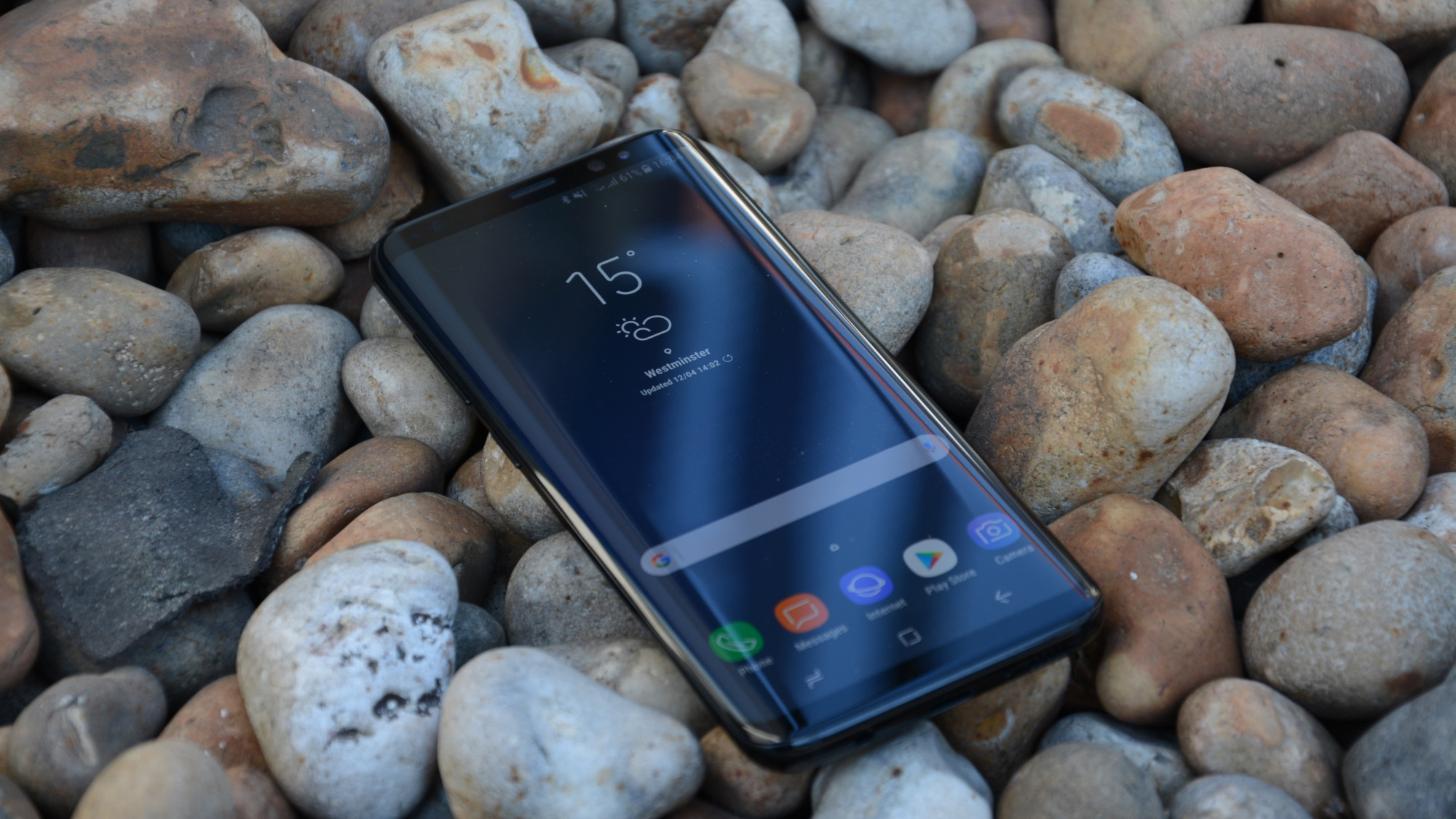 Samsung Galaxy S8 review pebbels