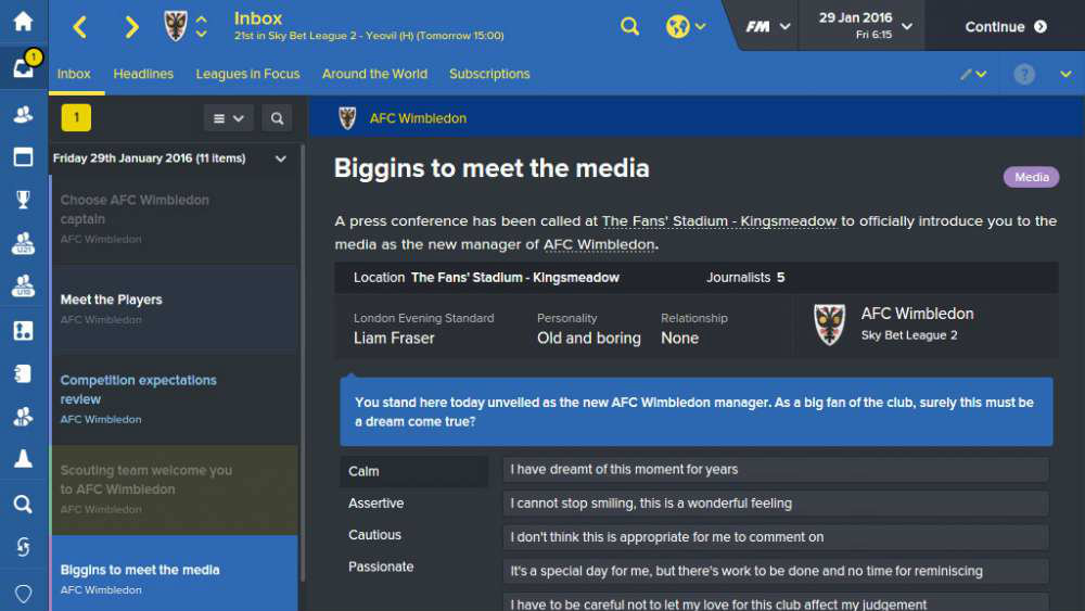Football Manager 2018 launches this November