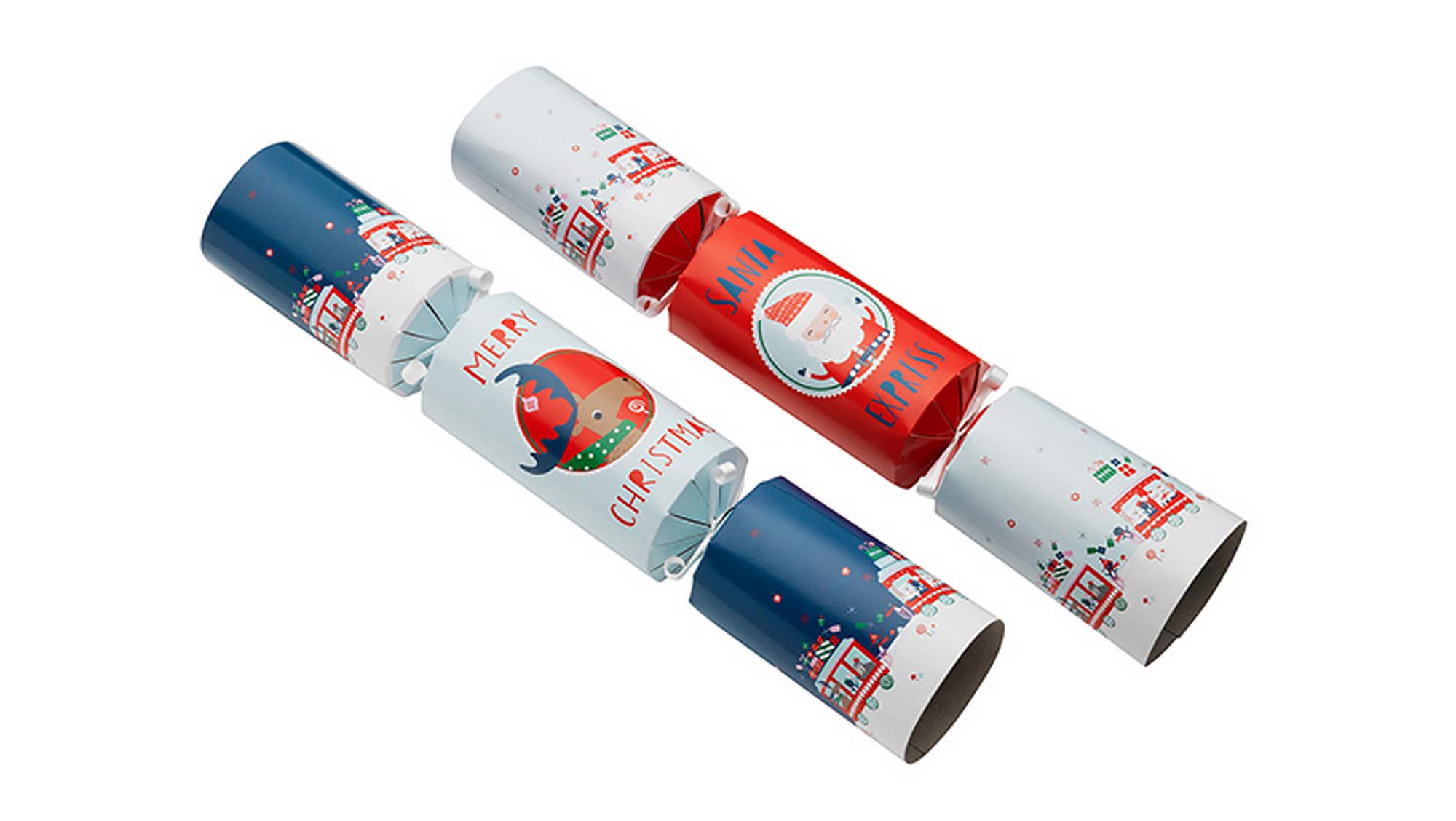 Best christmas crackers make your holiday season go with a bang the contents of these blue and red cracker are far superior to the usual tacky toys each one contains a little wind up santa which kids can race on the solutioingenieria Choice Image