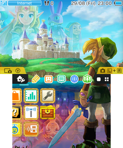 Nintendo 3DS Zelda Home theme