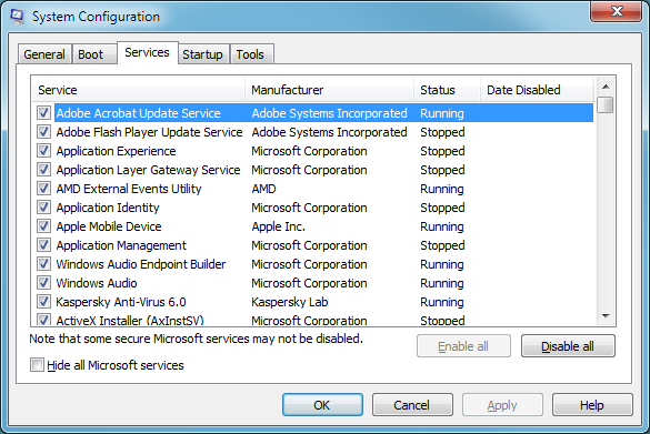 how to change win7 startup programs