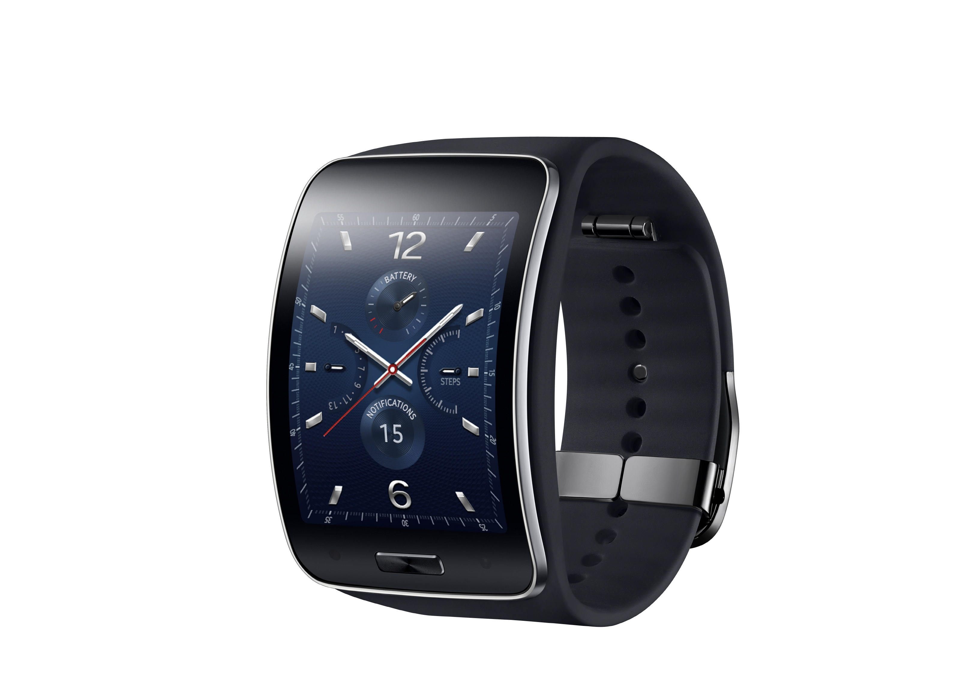 Samsung gear s smartwatch revealed with curved display 3g connectivity expert reviews for Watches gear