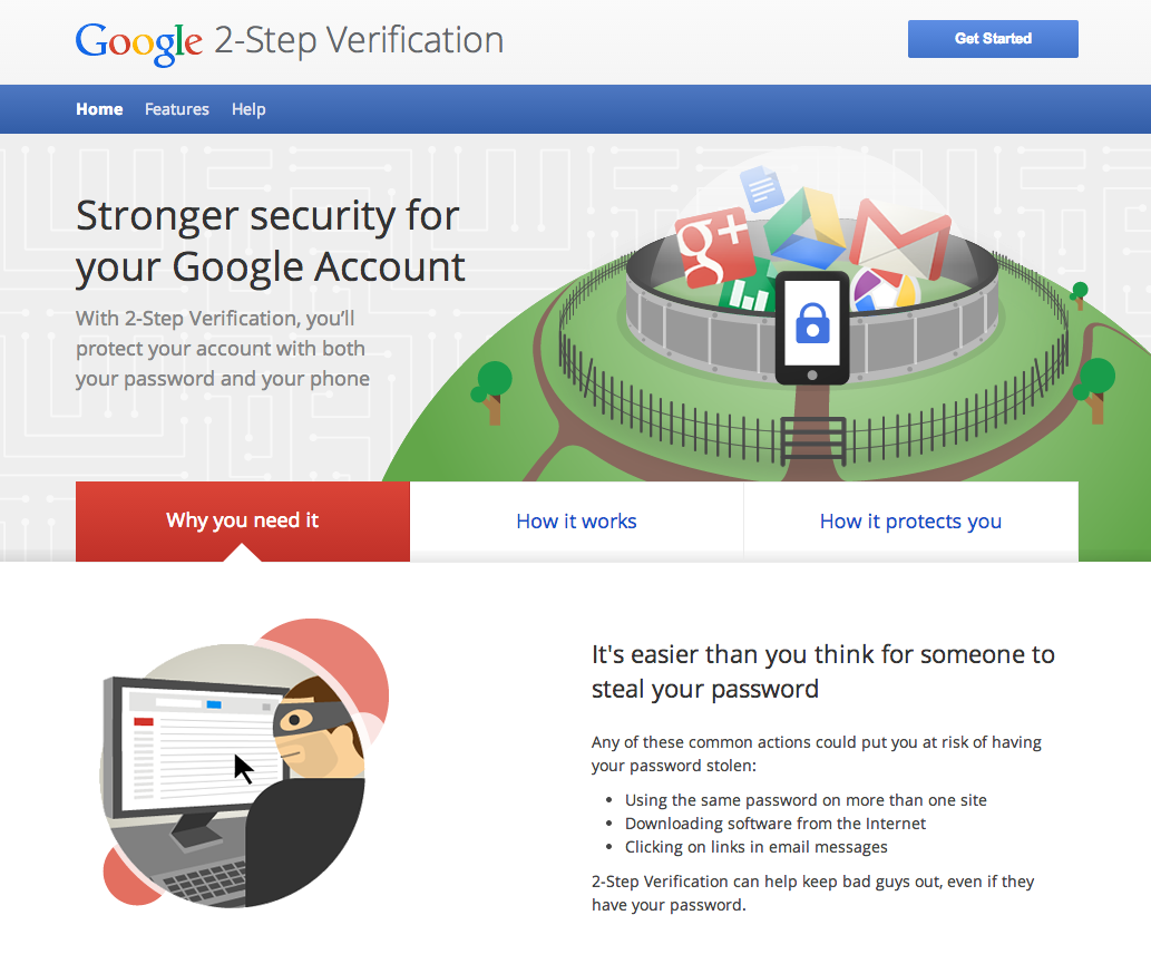 how to avoid security in google accounts