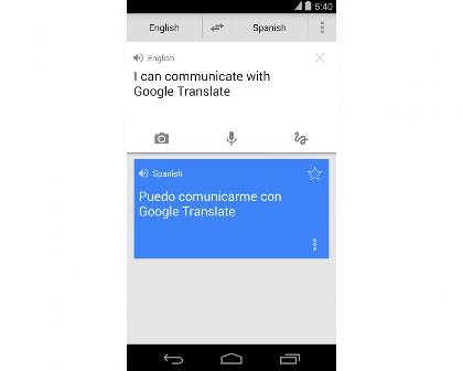 Google Translate for Android