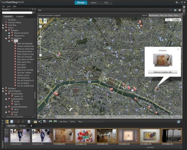 Corel PaintShop Pro X5 Ultimate maps