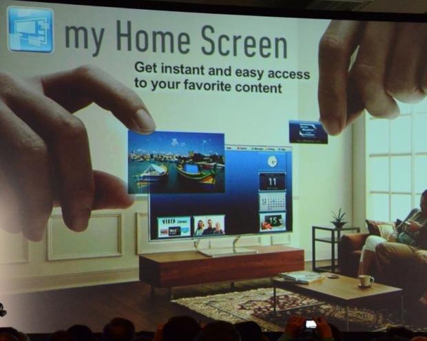 Panasonic Smart Viera 2013 My Home Screen