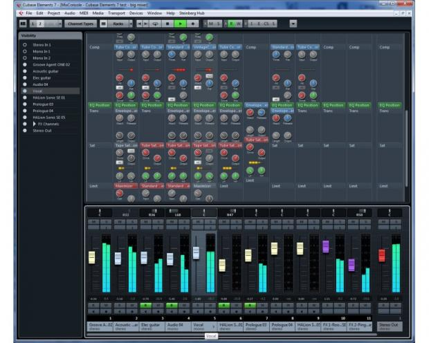 Cubase Elements 7 MixConsole
