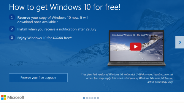 Get Windows 10 app for free upgrade