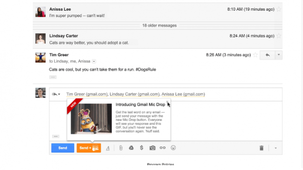 how to turn on mail drop in gmail