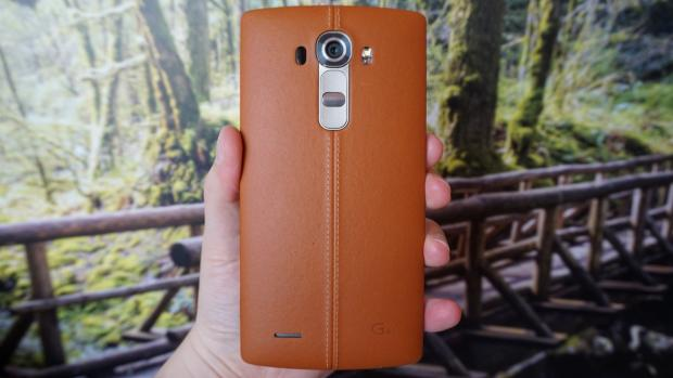 LG G4 leather rear header
