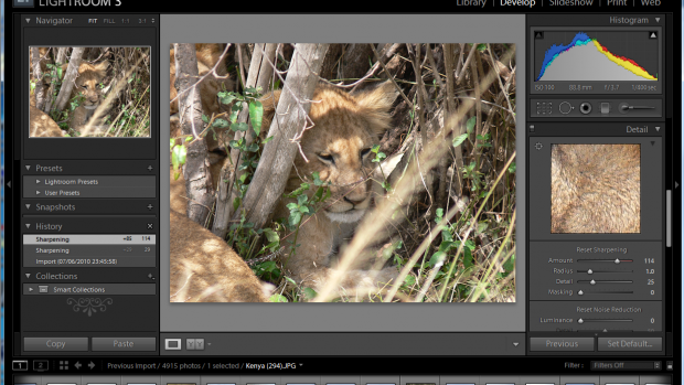 Lightroom 3 sharpening