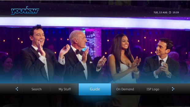 YouView main menu