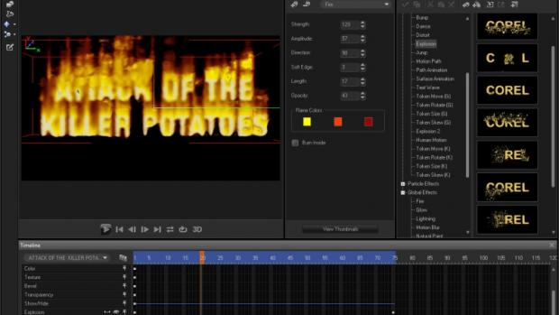 MotionStudio fire