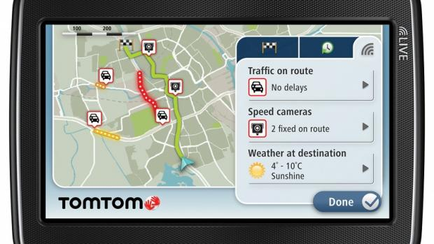 TomTom GPS map