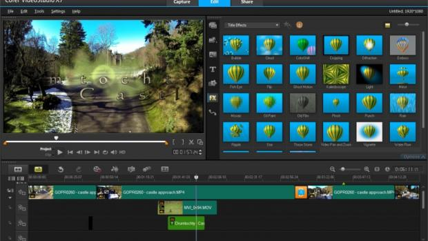 Corel VideoStudio X7 Ultimate: Main Screen