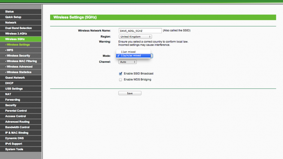 How to properly configure a 5GHz Wi-Fi router