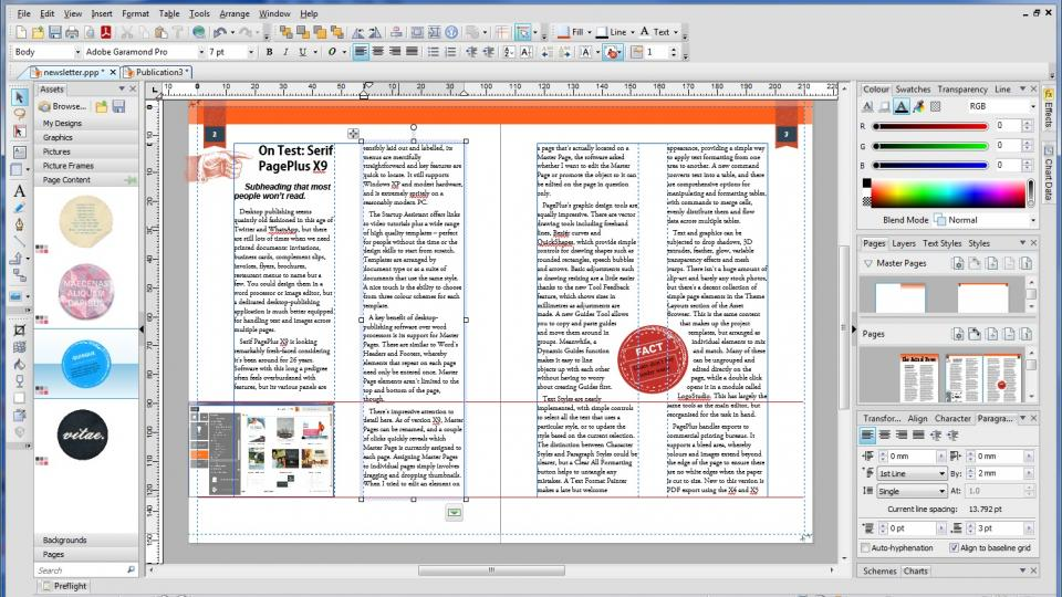 Serif Pageplus X9 Review Simply Brilliant Dtp Software