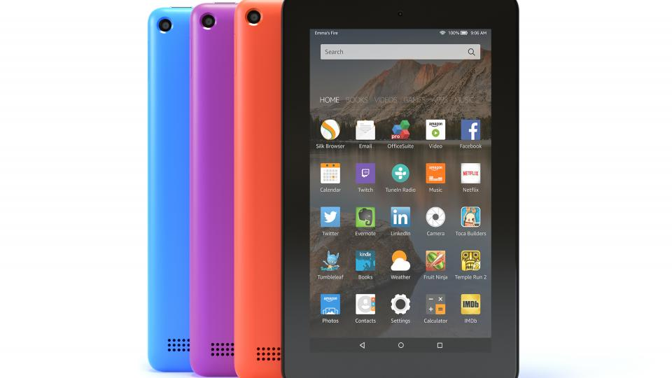Amazon Fire tablet colour options