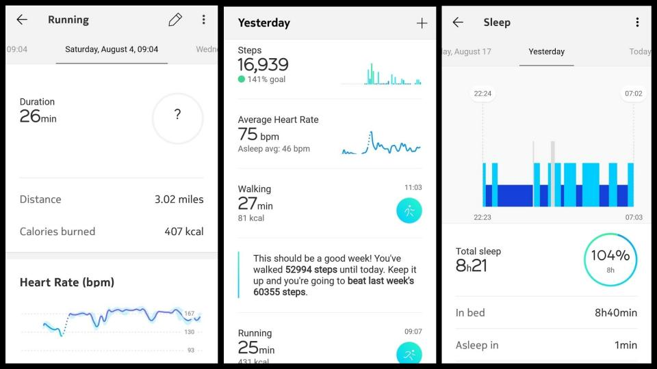 Given Nokia Doesnt Have Any GPS Powered Wearables Its Not Really Surprising That The Health App Is Pretty Limited A Timeline Shows Your Steps