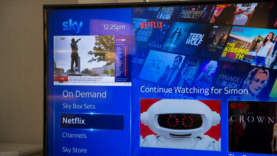 Sky Q customers can now get Netflix integrated to their service