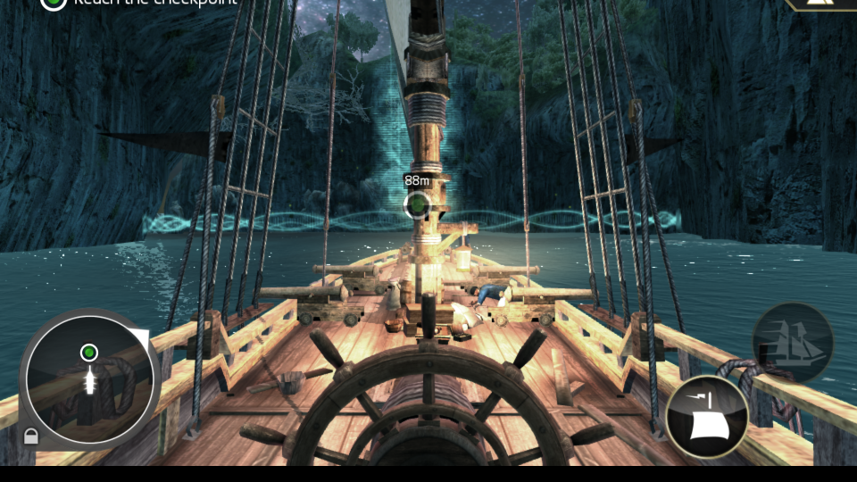 Screenshot of Assassin's Creed Pirates on the Google Nexus 7