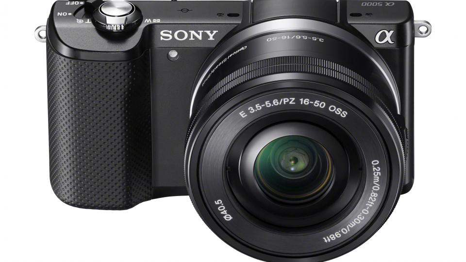 Sony Alpha A5000 front and top