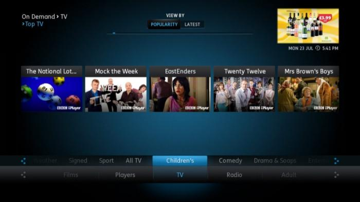 YouView Top TV