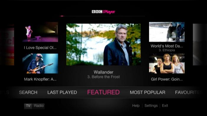YouView BBC iPlayer app
