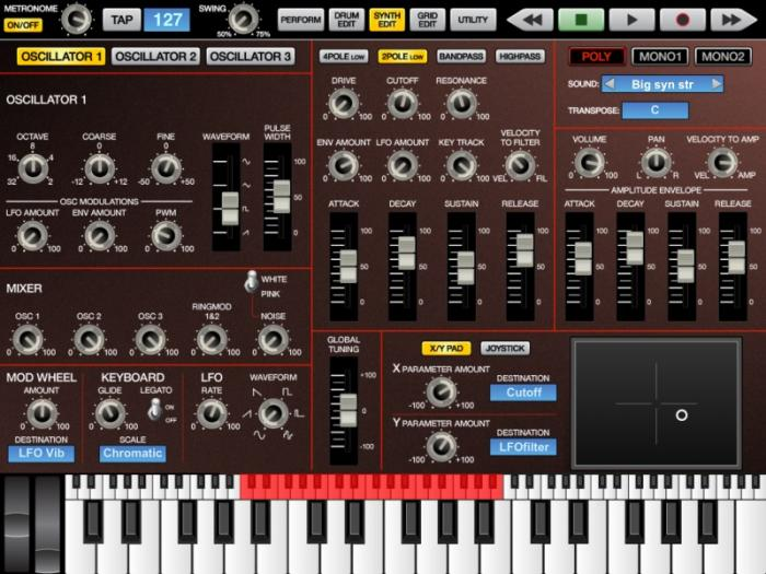 Akai SynthStation Synth Screen