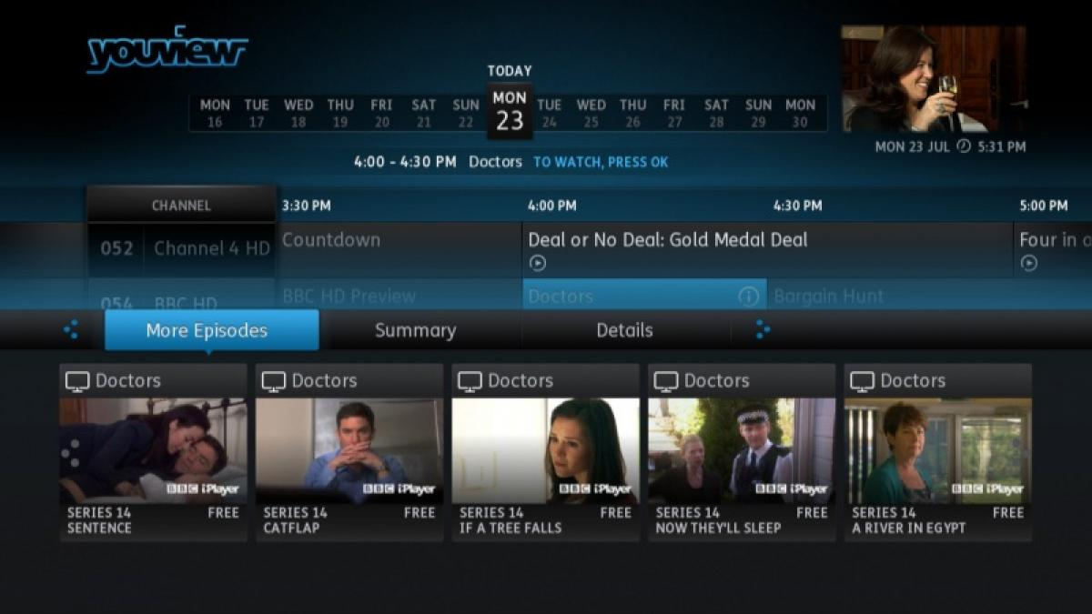 YouView More Episodes