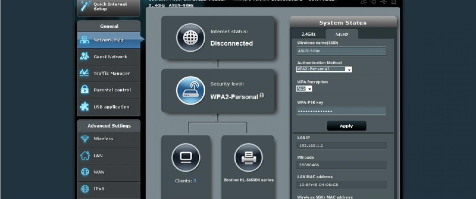 Asus RT-N66U Screenshot