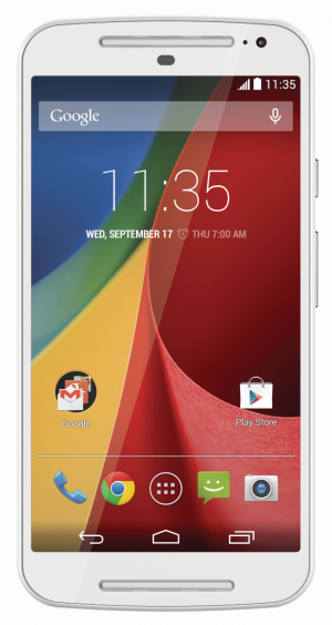 Motorola New Moto G face on