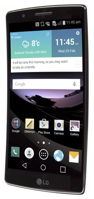 LG G Flex 2 three quarters