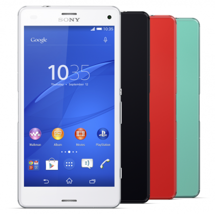 Sony Xperia Z3 Compact face on
