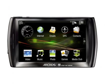 Archos 5 Straight On