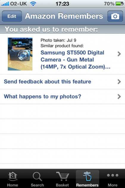 Amazon Mobile UK iPhone app