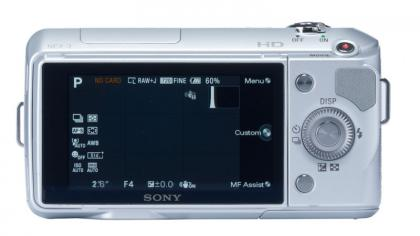 Sony NEX3 Back display
