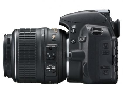 Nikon D3100 side
