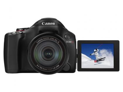 Canon PowerShot SX30 IS open