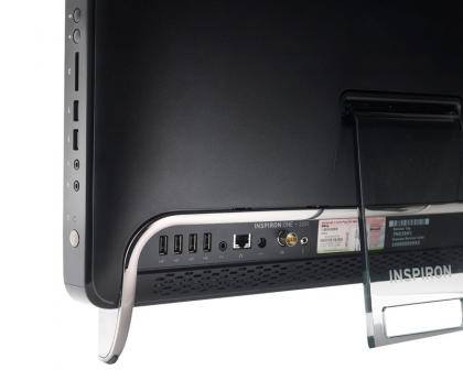 Dell Inspiron One 2205 rear and side ports